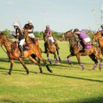 Playing for Pink Ladies Invitational Polo