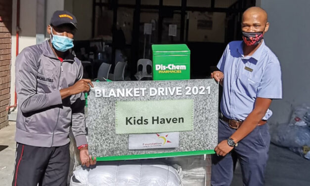 Another 5200 blankets donated by the Dis-Chem foundation for those in need